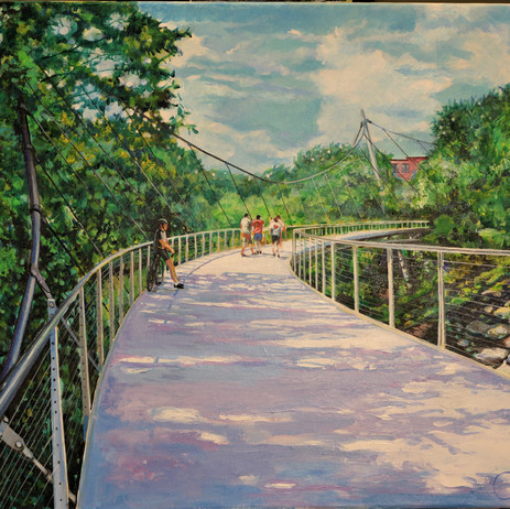 Shadows on the Liberty Bridge