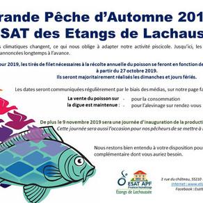 """Grande pêche d' automne à l' ESAT """"etangs de Lachaussée"""""""