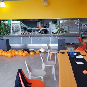 Le restaurant aux couleurs d' Halloween