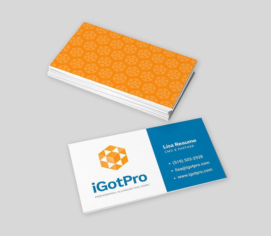 iGotPro business card design | Adam Morris Brand Consultant