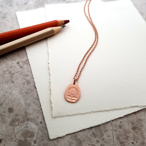Rose Gold Vermeil charm necklace