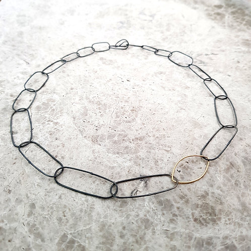 Lightweight handmade silver and gold chain
