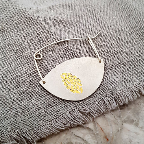 handmade silver and gold brooch