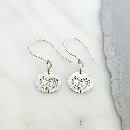 solid silver dangle earrings