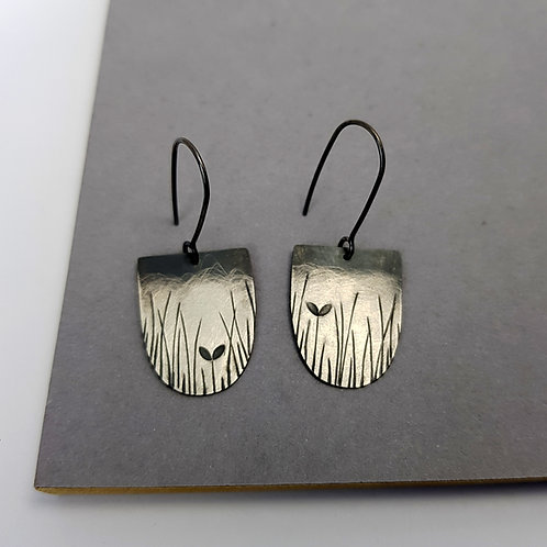 oxidised dangle earrings