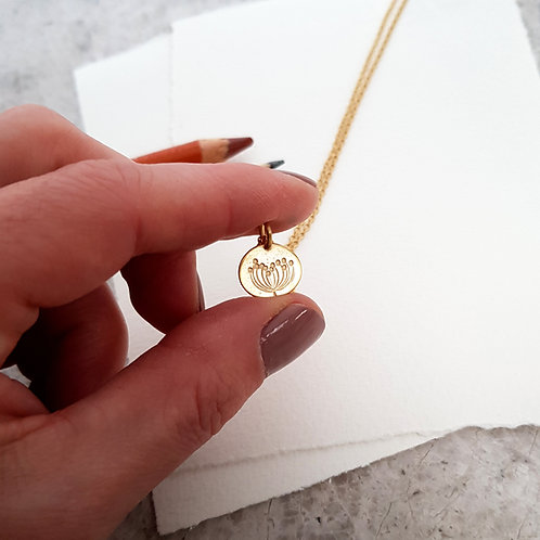 yellow gold vermeil charm necklace