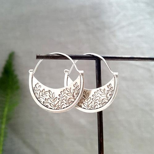 Gypsy leaves hoop earrings - w/s