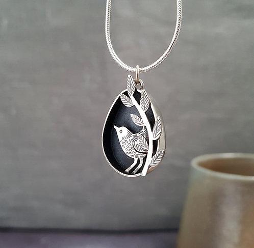 silver wren necklace