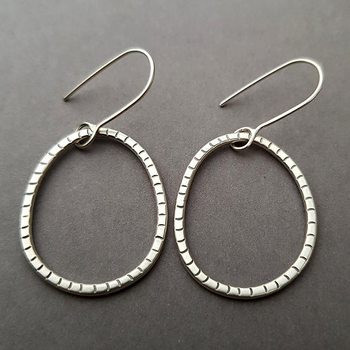 Single hoop earrings - W/S