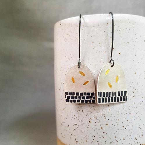 contemporary handmade silver earrings