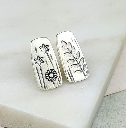 mismatched silver stud earrings