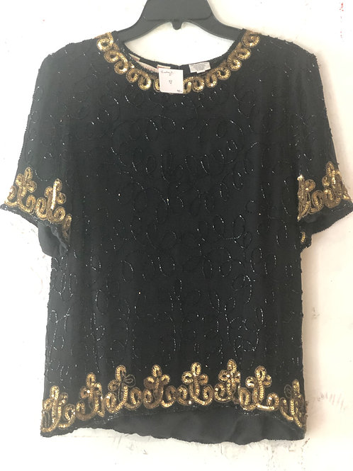 Vintage Bead and Sequined Shirt