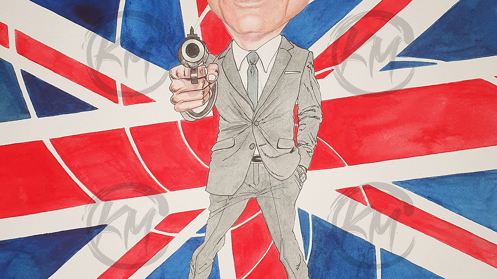 Daniel Craig 007 Bond Print