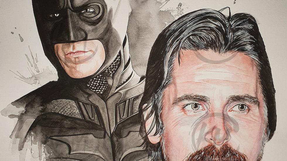 Bale Batman Print