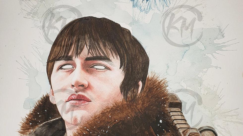 Bran Stark Print