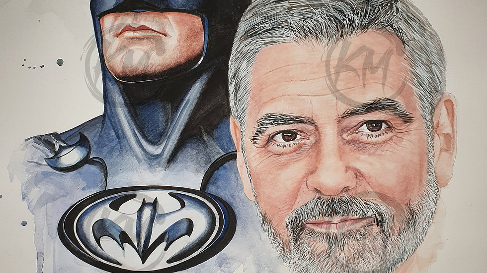 Clooney batman Print