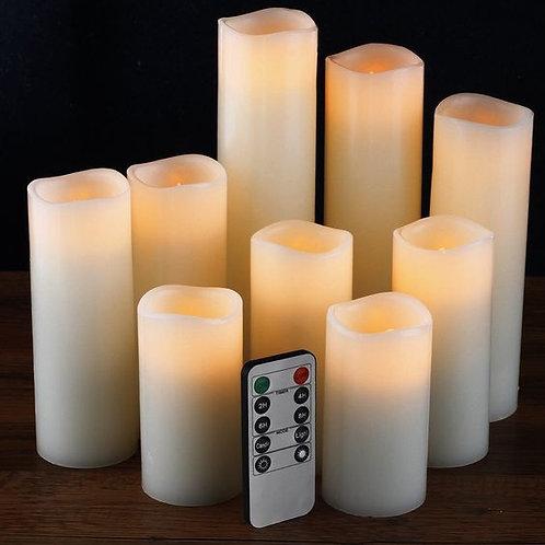 LED Amber Candle Set