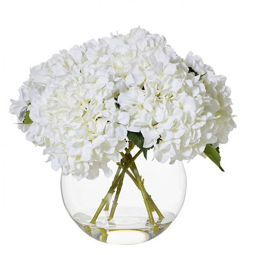 Clear flower bowls