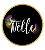 Designed by Nelle Logo Gold Border.png