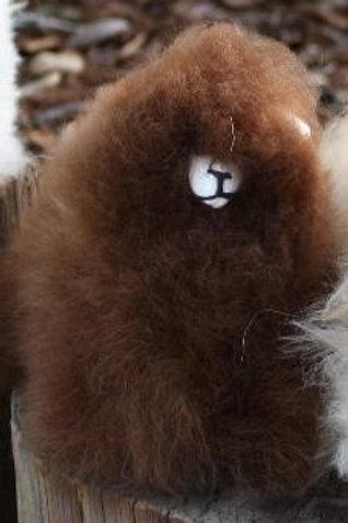 "6"" Standing Alpaca Fur Toy - Brown"