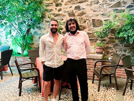 Nos ha visitado Carvajal, excepcional futbolista