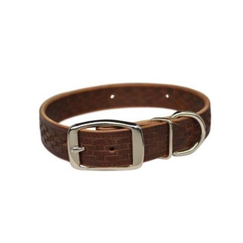 Warner Basket Weave Dog Collar