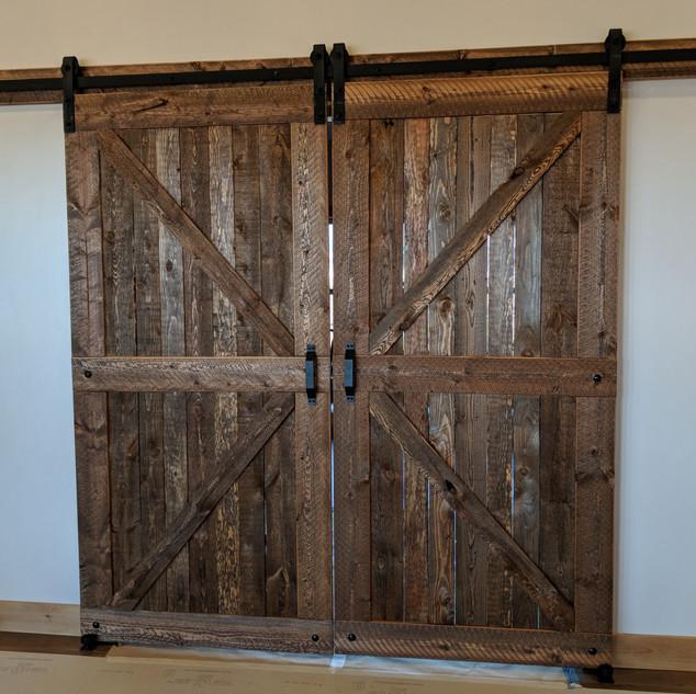 Interior sliding barn doors