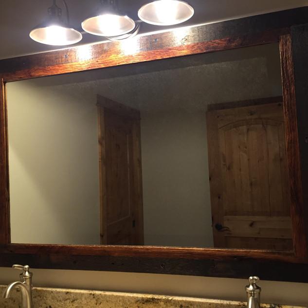 Barnwood mirror frame