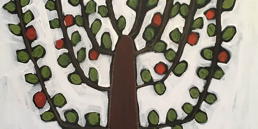 """Paint & Sip with Deidre Noreen """"Grow Where You're Planted"""" Tree (1)"""