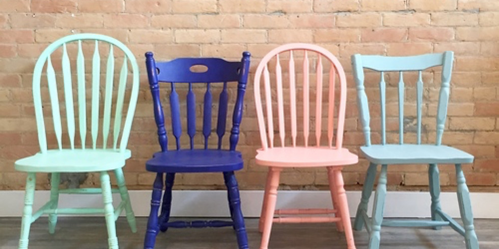 Chair Upcycle: Distressed Chalk Paint Workshop with Christina Lefebvre