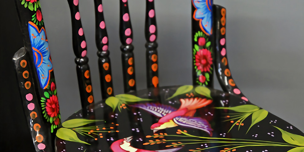 Chair Upcycle: Whimsical Chair Painting Class with Christina Lefebvre