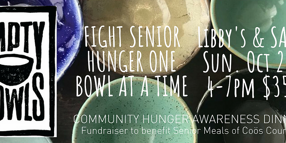 Empty Bowls for Hunger Awareness at Libby's Bistro