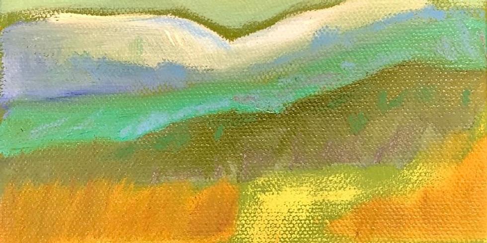 Oil Landscape Painting w/ Deidre