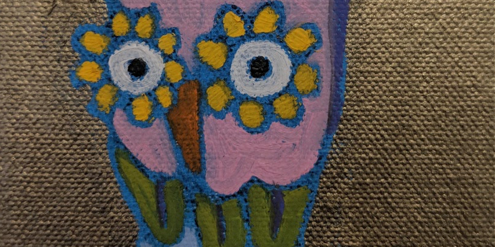 Whimsical Wee Owl trio Paint & Sip with Deidre Noreen