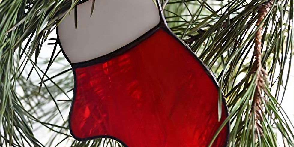 Stained glass Christmas ornaments  - Mitten only