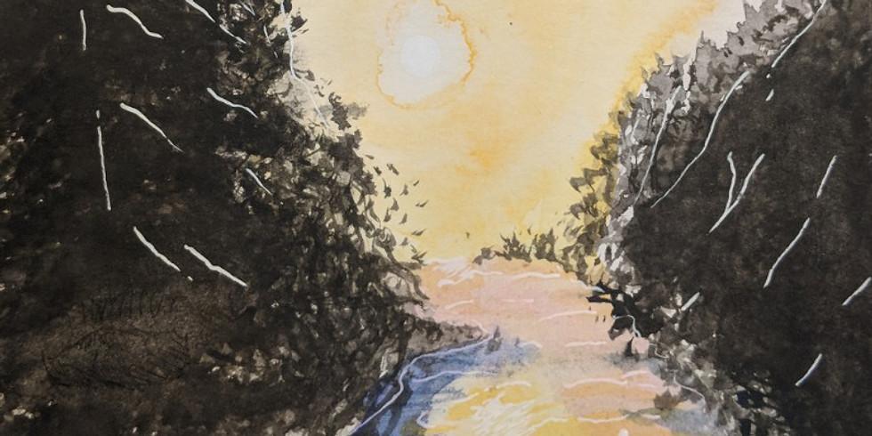 Watercolor landscape w/Jocelyn Paradis