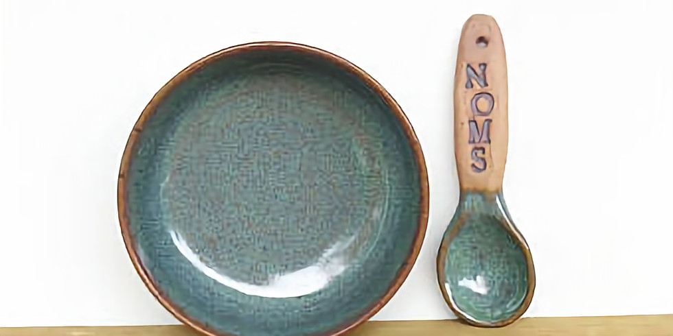 Kids Clay: Cereal bowl and spoon