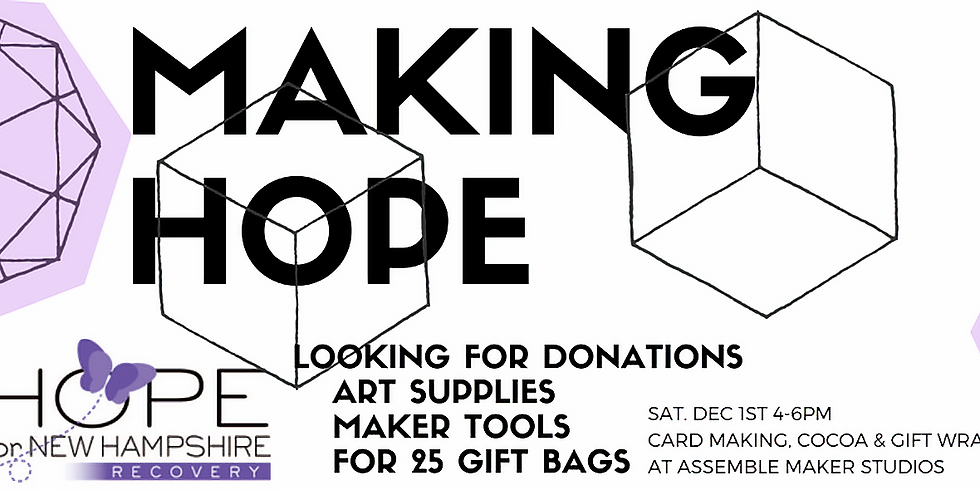 Making Hope~ 3rd Annual Holiday Community Project