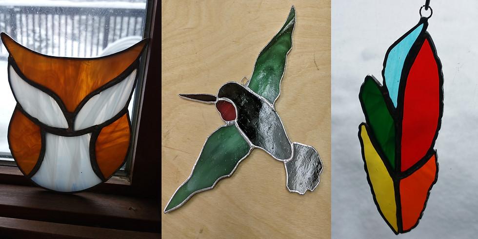 For the birds!  Stained glass bird suncatchers