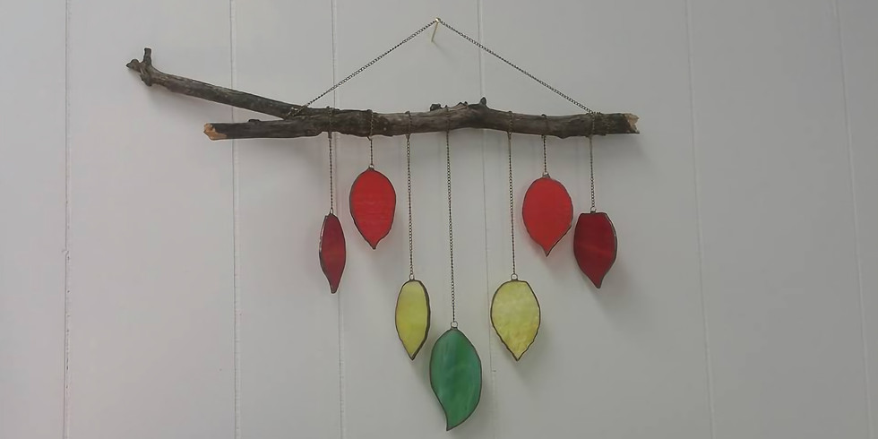 Fall leaves wind chime/wall hanging.