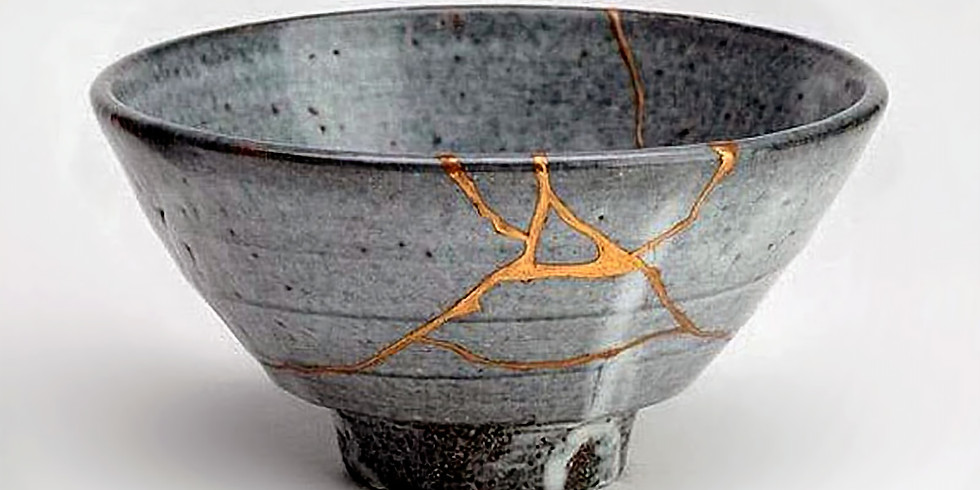 Faux Kintsugi- mending with gold