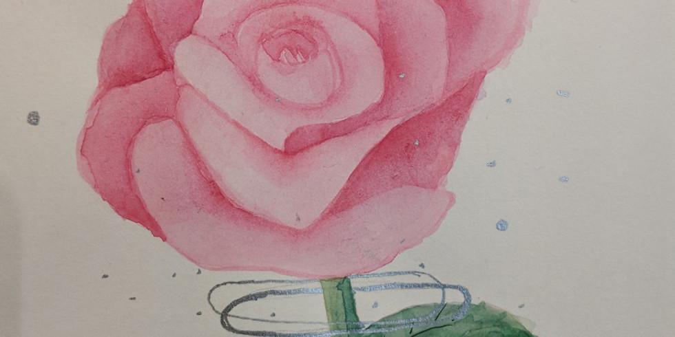 Watercolor flower painting w/Jocelyn Paradis