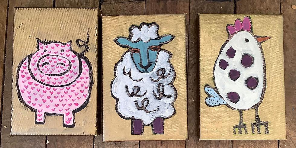 Wee Three Farm Animals w/ Deidre