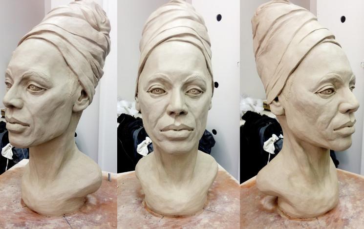 Female head sculpture