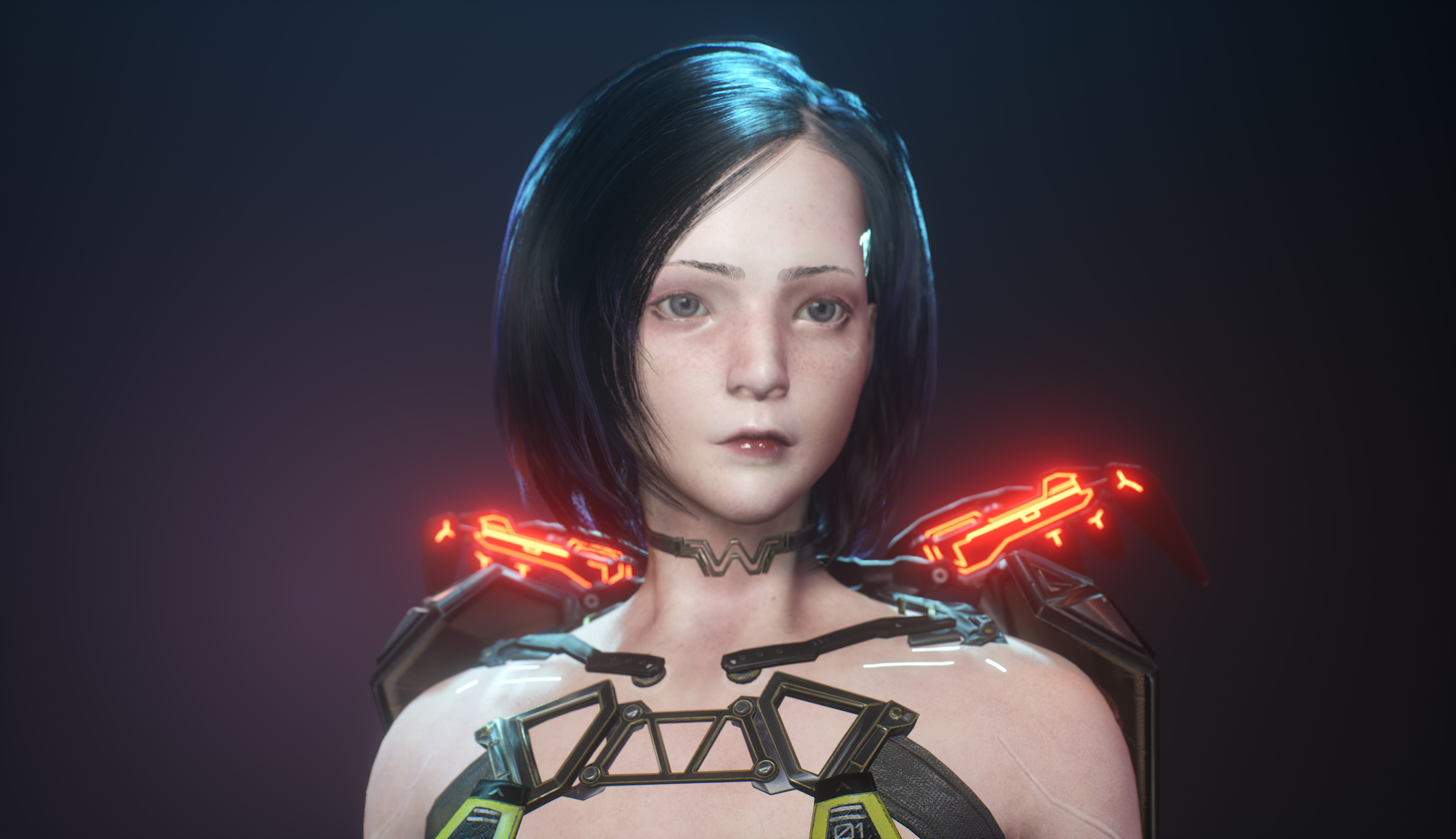 Cyberpunk Girl_UE4