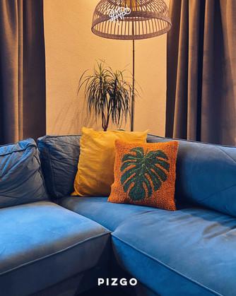 Monstera Pillow