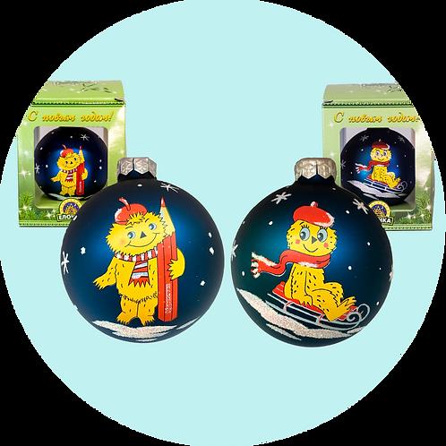 Стеклянная игрушка (ёлочный шар)