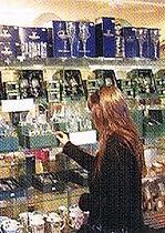 Liza admires the glassware..jpeg