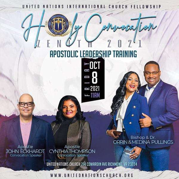 Apostolic Leaders Apostle John Eckhardt and Apostle Cynthia Thompson
