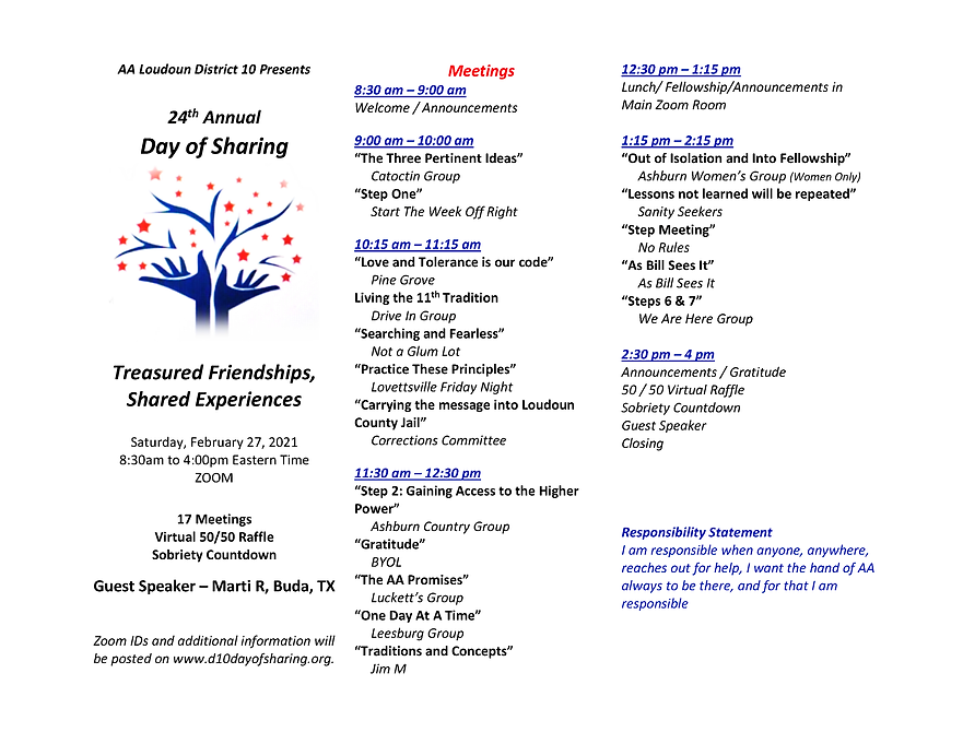 24th Annual Day of Sharing Program Revis